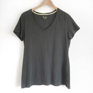 Boden Tops - Boden | Grey V Neck Cotton T-Shirt Size Large
